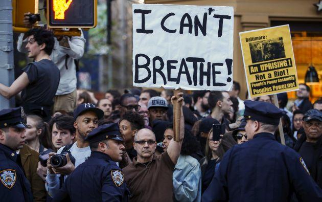 Baltimore fue declarado en estado de emergencia debido a la violencia de las protestas. Fotos: REUTERS.