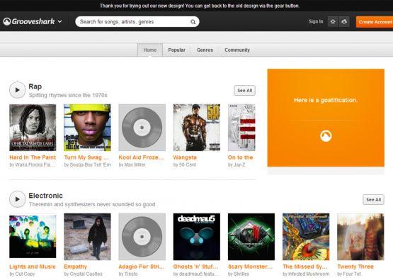 Grooveshark fue creado en 2006 por Josh Greenberg, Sam Tarantino y Andrés Barreto.