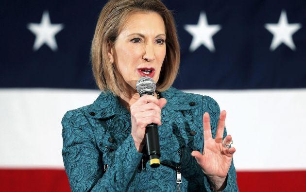 Fiorina fue consejera delegada de la compañía Hewlett-Packard entre 1999 y 2005 y nunca ha ocupado un cargo político. Foto: REUTERS.
