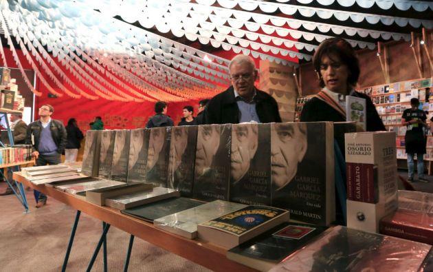 El libro robado estaba en el pabellón de Macondo, invitado de honor de la FilBo 2015. Foto: REUTERS