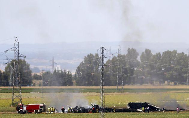 Los restos del airbus son limpiados del lugar del accidente. Foto: REUTERS.