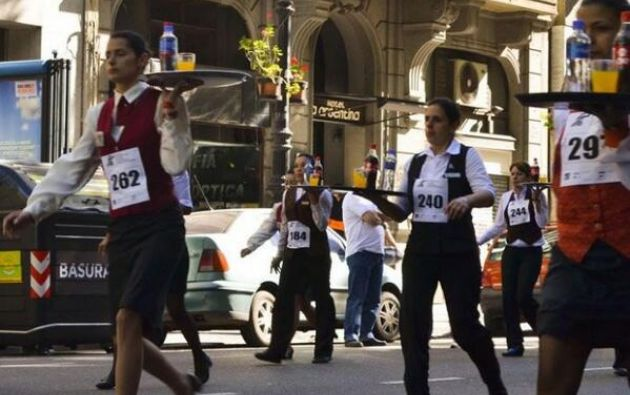 Poco más de 50 camareras entre los corredores participaron de la duodécima edición de esta competencia organizada por el sindicato del sector.