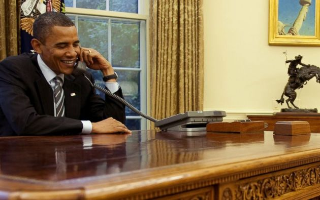 """Obama agradeció a las madres su labor y dijo que sabe """"lo duro"""" que es criar a los hijos y que sin su madre él nunca podría haber llegado a donde está ahora."""