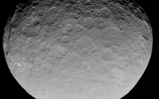 Ceres es el más pequeño de los planetas enanos del Sistema Solar y el más grande del cinturón de asteroides entre Marte y Júpiter. Foto: NASA.