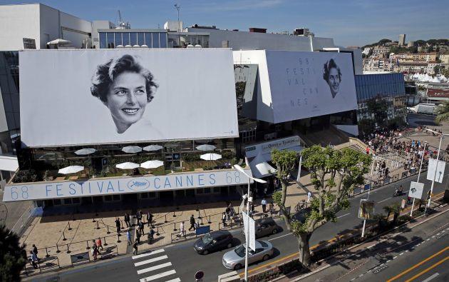 Ingrid Bergman es la musa de esta 68 edición del festival. Fotos: REUTERS.