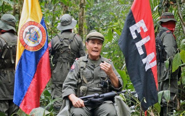 Nicolas Rodriguez, comandante de ELN. Foto. REUTERS