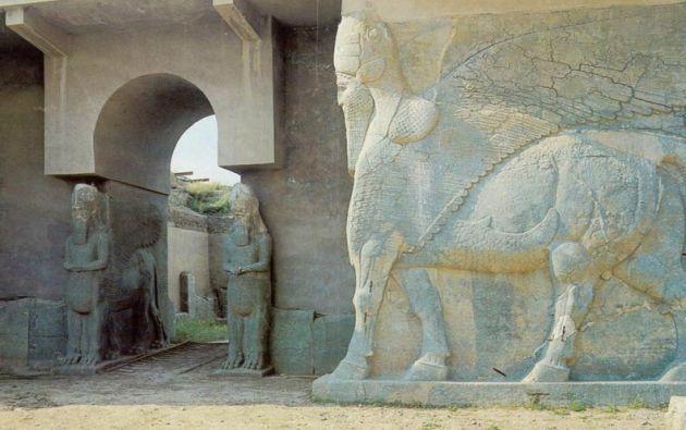 Los yihadistas destruyeron las ruinas asirias de Nimrud del siglo XIII a. C. y de la ciudad de Hatra.