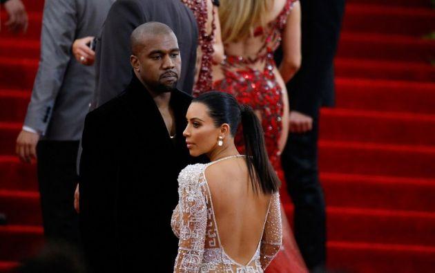 Kim y su esposo. Foto: AFP
