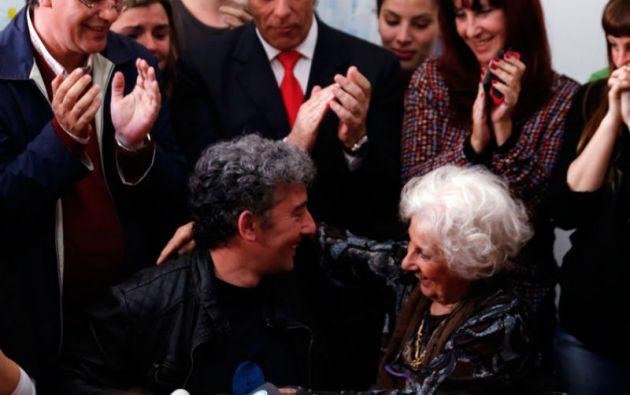 Guido Montoya y Estela de Carlotto.