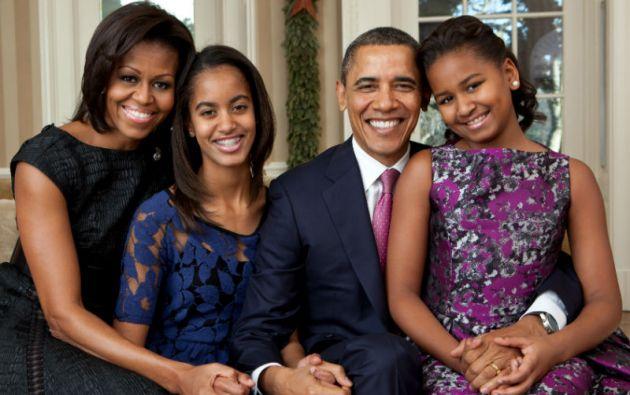 Los Obama, la familia presidencial de Estados Unidos.