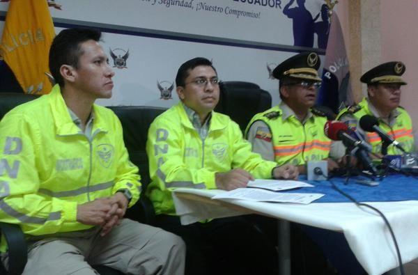 Rueda de prensa de la Policía sobre operativo. Foto: Policía Nacional
