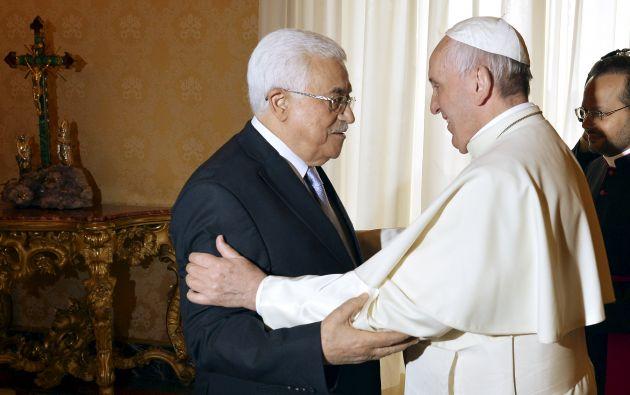Los líderes se reunieron un día antes de la canonización de dos religiosas palestinas. Foto: REUTERS