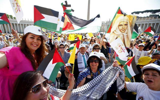 Al acto acudieron personas de los territorios palestinos, Israel y Jordania. Foto: REUTERS