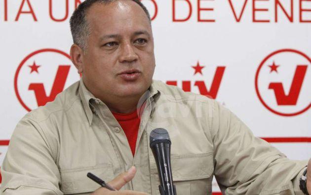 Presidente de la Asamblea Nacional de Venezuela, el oficialista Diosdado Cabello.