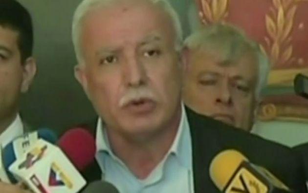 Canciller palestino Riyad al-Maliki.