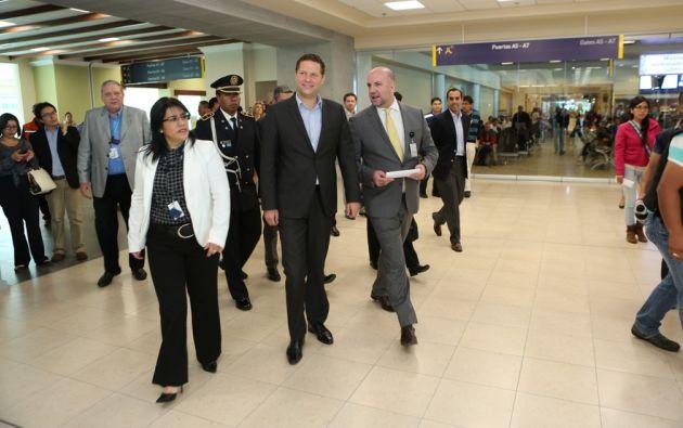 Rodas recorriendo las nuevas salas. Foto: Prensa Quito