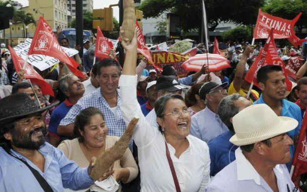 Marcha en Guayaquil. Foto: Ecuavisa.com