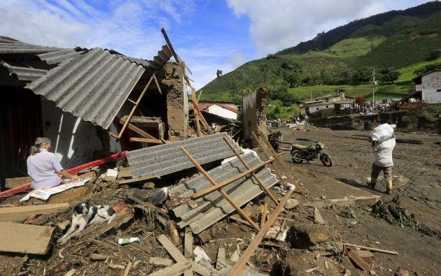El presidente colombiano prometió viviendas gratuitas a los afectados por el desastre. Fotos: REUTERS.