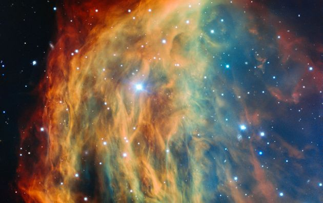 La colorida foto captada por ESO ayuda a entender cómo mueren las estrellas. Foto: www.eso.org