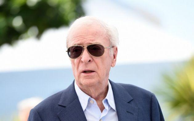 Michael Caine emocionó y conquistó Cannes. Foto: AFP