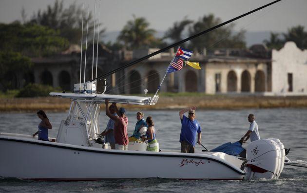 El viaje de produce en medio de las celebraciones de los 23 años del Club Náutico Internacional Hemingway, fundado el 21 de mayo de 1992, que incluye otros eventos náuticos. Foto: REUTERS.