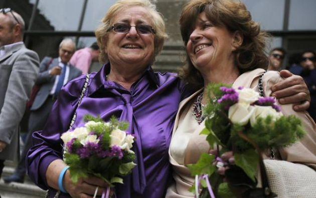 Las 17 parejas inscritas no estaban casadas y ahora se han registrado como uniones civiles. Fotos: Radio_Zek.