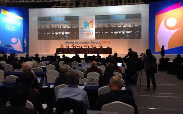 Una visión general del Foro Mundial de la Educación, organizado por la UNESCO. Foto: Twitter.