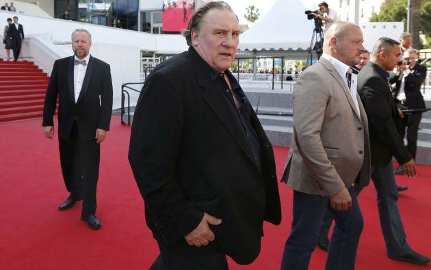 Depardieu en la alfombra roja de Cannes. Foto: REUTERS.