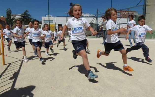 En 2014, el esfuerzo de 300.000 niños sumó casi cuatro millones de euros. Foto: Acción contra el Hambre.