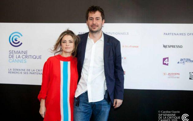 La actriz Dolores Fonzi y el director Santiago Mitre. Foto: Facebook / Semaine de la Critique Cannes.
