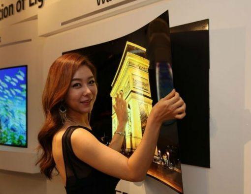 El prototipo de este televisor ultradelgado fue desarrollado gracias a la tecnología OLED.