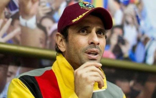 Capriles dijo no conocer los detalles de la marcha convocada por López. Foto: Ecuavisa.