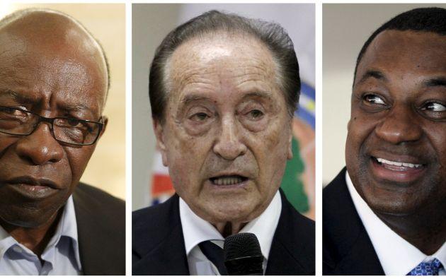 Jack Warner, Eugenio Figueredo y Jeffrey Webb, tres de los detenidos.