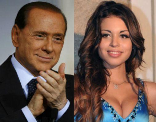 Silvio Berlusconi y Karima El Marough, conocida como Ruby.