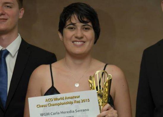 La ajedrecista practica este deporte desde sus ocho años. Foto: Twitter / Carla Heredia.