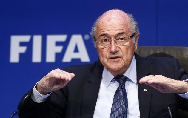 Para Blatter, la estructura piramidal de la FIFA obliga a implementar un sistema de control no sólo a nivel de las confederaciones, sino también de las asociaciones nacionales. Foto: REUTERS.