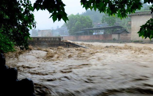 Tormentas sacuden el sur de China. Foto: AFP
