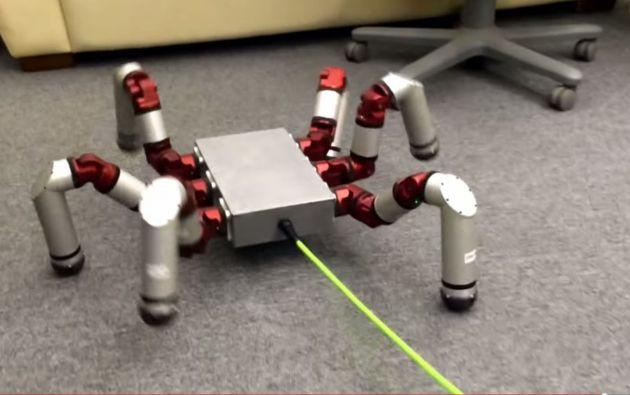 El robot araña. Foto: CMU Biorobotics