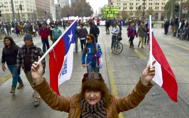 Paro indefinido en Chile. Foto: AFP