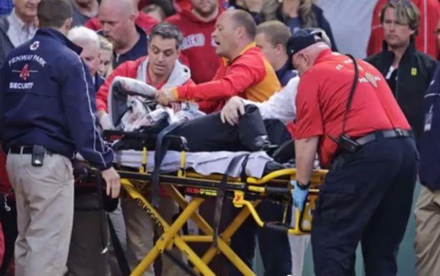 El hecho ocurrió en un partido entre los Atléticos de Oakland y los Medias Rojas de Boston.