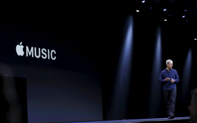 Lanzamiento Apple Music. Foto: REUTERS