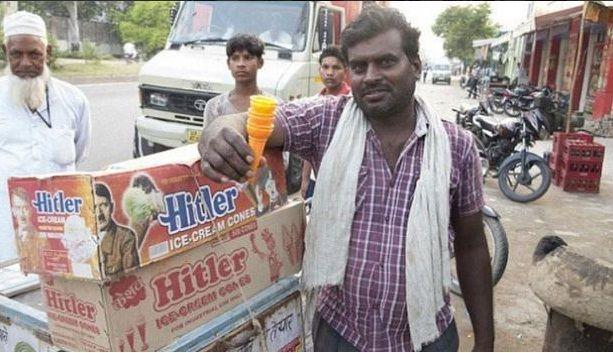 Vendedor de helados Hitler en India. Foto: Gonzoo/Twitter
