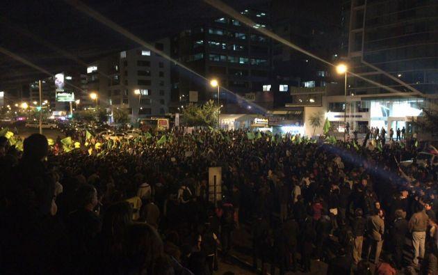 Cientos de personas protestaron en Quito en contra del régimen. Foto: Patricio Díaz.