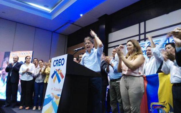 El líder de CREO reiteró sus intenciones de candidatizarse a la presidencia para las elecciones 2017. Foto: Twitter / Guillermo Lasso.