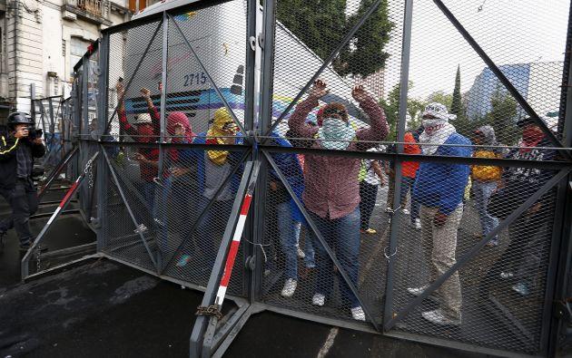 Protestas en México. Foto: AFP