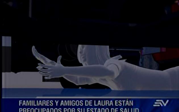 La joven continúa internada en el hospital Eugenio Espejo y según su madre está estable. Foto: Captura de video.