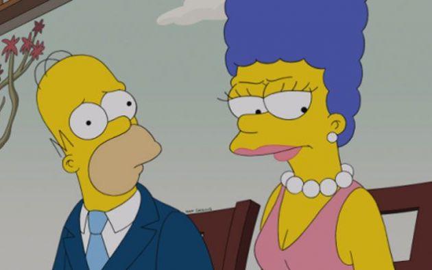 Marge y Homero Simpson. Foto: Internet