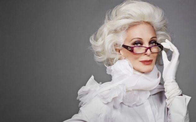 Carmen Dell'Orefice, tiene 84 años y es modelo.