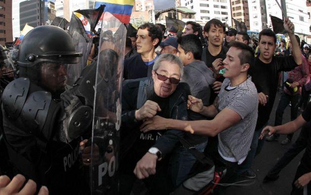 Manifestaciones en favor y en contra del Gobierno se han repetido desde el lunes en varias ciudades. Foto: AFP.