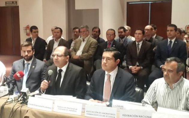 Los empresarios aclararon también que ellos no están detrás de ninguna manifestación. Foto: Twitter / Cámara de Comercio de Guayaquil.